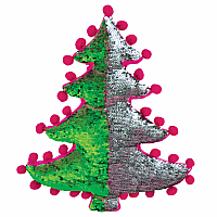 Christmas Tree Sequin Pillow