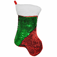 Red Green Stocking Pillow