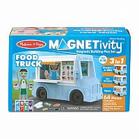 Food Truck Magnetivity Magnetic Building Play Set