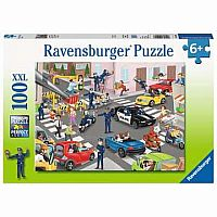 100 pc Police on Patrol Puzzle