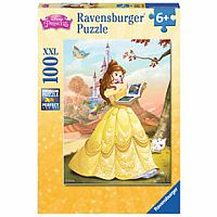 Belle Reads a Fairy Tale 100 Piece Puzzle
