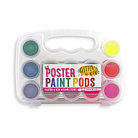 Glitter Neon Poster Paint Pods