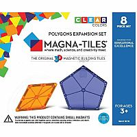Magna-Tiles® Polygons 8 Piece Expansion Set