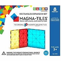 Magna-Tiles® Rectangles 8 Piece Expansion Set