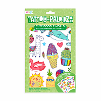 Cute Doodle World Temporary Tattoos