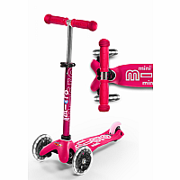 Mini Pink Deluxe Scooter with LED wheels