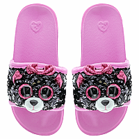 Kiki Cat Reversible Sequin Slides -- Large
