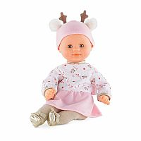 Bebe Calin Happy Reindeer Toy Baby Doll