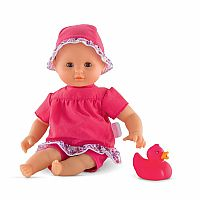 Bebe Bath Flowers Corolle Toy Baby Doll, Pink