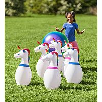 Inflatable Unicorn Bowling