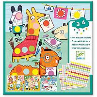 Colored Dots Sticker Kit