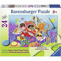 Deep Diving Friends 24 Pc. Floor Puzzle