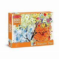 200 pc Seasons Tree Cardboard Jigsaw
