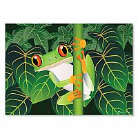 60 pc Red-Eyed Tree Frog Cardboard Jigsaw