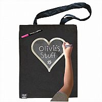 Black Tote with Silver Heart