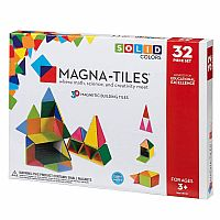 Magna-Tiles® Solid Colors 32-Piece Standard