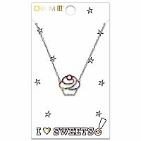 Cupcake Rhinestone Necklace