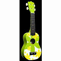 Green Flower Ukulele