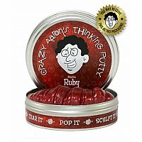 "Electric Ruby Thinking Putty 2"" Tin"