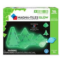 Magna-Tiles® Glow in the Dark 16-Piece Set