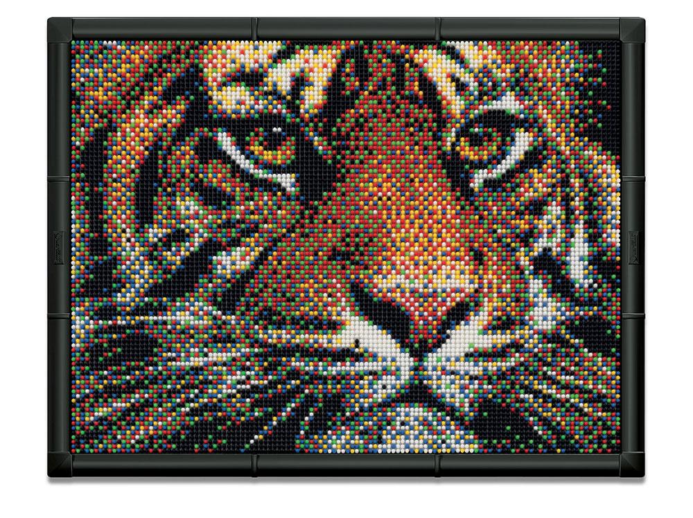 Tiger Pixel Art Set Fun Stuff Toys