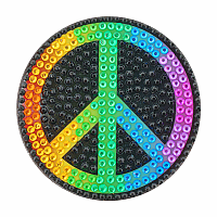 Rainbow Peace Sign Stickerbeans