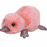Wilma Small Beanie Boo - Pink Platypus