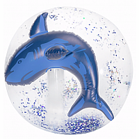 Shark Confetti Beach Ball