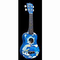 Soprano Blue Bird Ukulele