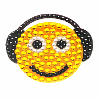 Smiley w/Headphones Stickerbeans