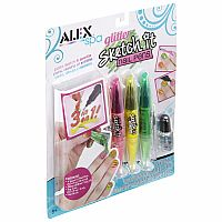 Spa Glitter Sketch It Nail Pens