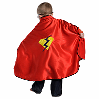 Red Cape With Reversible Mask