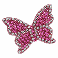 PInk Butterfly Stickerbeans