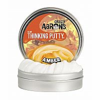 "Amber 4"" Glow In The Dark Thinking Putty"