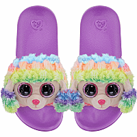 Rainbow Poodle Slides