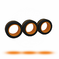 Black/Orange FinGears - Large
