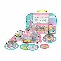 Animal Tourists Tin Tea Set