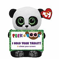 TY Peek-A-Boo Tablet Holder with Screen Cleaner Bottom Poo the Panda