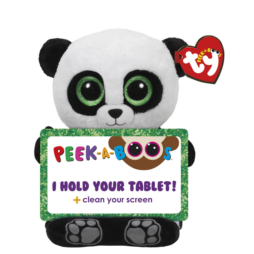 Ty Peek A Boo Tablet Holder With Screen Cleaner Bottom Poo The Panda