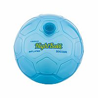 NightBall® LED Soccer Ball - Blue, Size 5