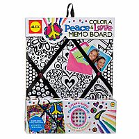 Color A Peace & Love Memo Board