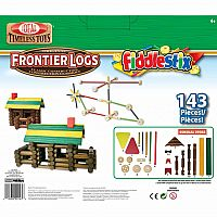 Ideal Frontier Logs and Fiddlestix Box 143-Piece Wood Building Set