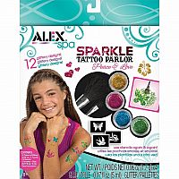 Peace and Love Sparkle Fun Tattoos