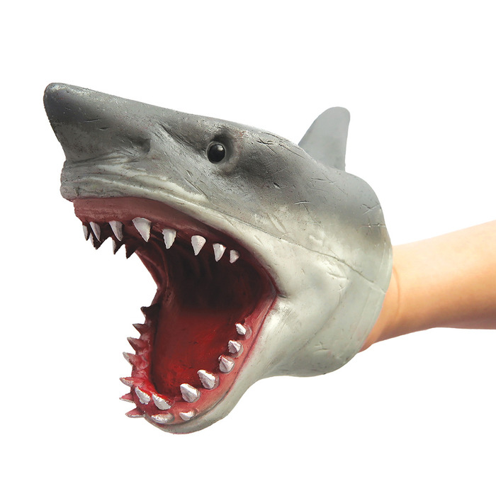 Shark Stretchy Hand Puppet Fun Stuff Toys